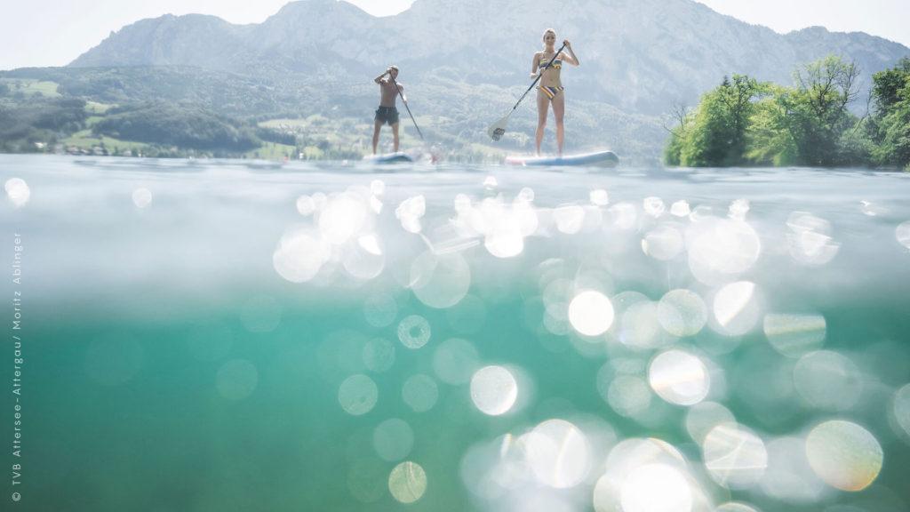Sportliche Aktivität in Attersee: Wassersportarten aller Art